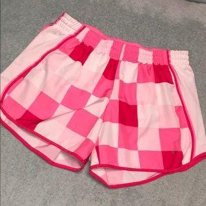Checked Nike shorts